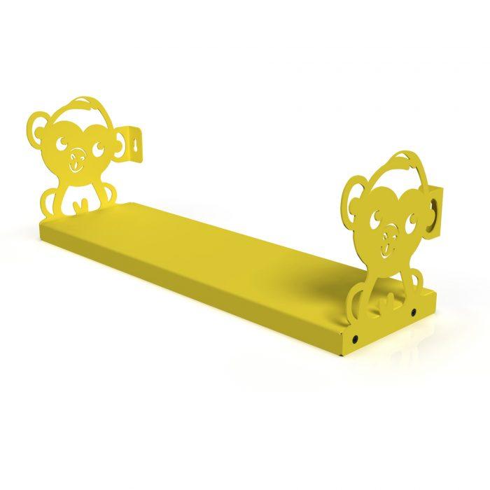 Aapje boekenplank geel gorillz