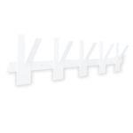 Wandkapstok - 10 haken - Metaal